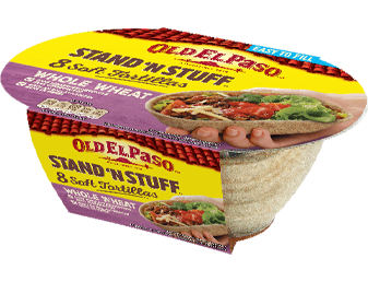 Stand 'N Stuff™ Whole Wheat Soft Tortillas
